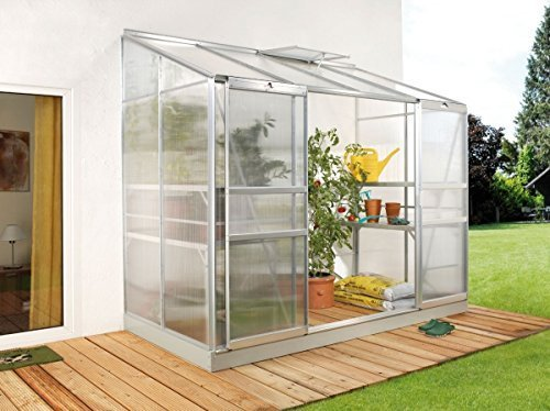VITAVIA Anlehngewächshaus Ida 3300, BxT: 254x128 cm, aluminiumfarben silberfarben