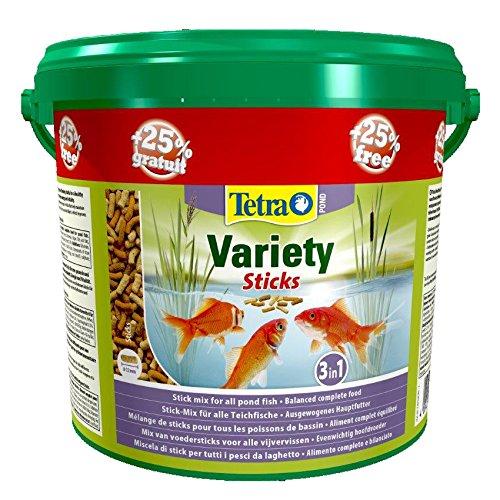 Tetra Pond variété Sticks Nourriture pour poisson 4L + 25%... (Seau de 5 litre)
