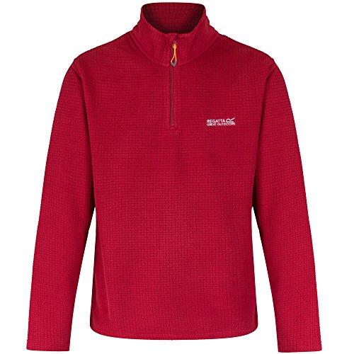 Half Zip Knit Top (Regatta Mens Elgon Half Zip Grid Knit Thick Warm Fleece Top)