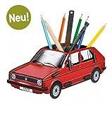 Tücherbox we2028Stifteköcher mit Design VOLKSWAGEN GOLF, Rot