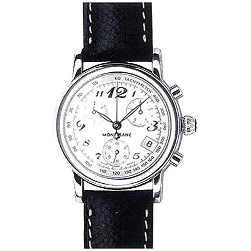 Uhr Montblanc Star Steel Collection ID7254Quarz (Batterie) Stahl Quandrante Silber Armband Leder