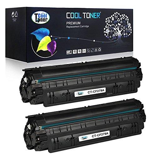 Preisvergleich Produktbild Cool Toner Compatible Toner for CF279A for HP LaserJet Pro MFP M26nw m26a, HP LaserJet Pro M12w M12a,(1000 Pages,2-Pack,Black)