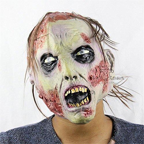SQCOOL Übelkeit Zombie Horror Rotten Gesicht Halloween Masken Weihnachten Party Stützen mit hoher Qualität weich und bequem zu (Zombie Roboter Kostüm Rob)