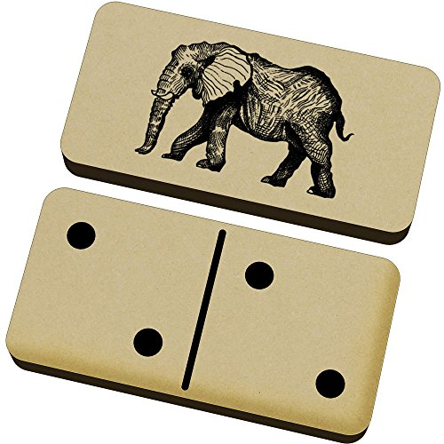 Azeeda 'Elefante' Domino Juego y Caja (DM00006051)