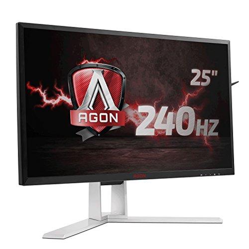 AOC Monitores AG251FZ - Monitor de 25' (resolución 1920 x 1080 Pixels, tecnología WLED, Contraste 1000:1, 1 ms, USB 3.0), Color Negro y Rojo