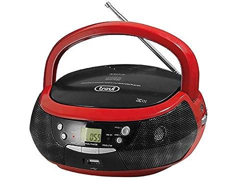 Trevi 0053202Mikrofon, Schwarz, Rot