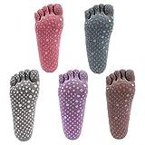 Gather Other Professionelle rutschfeste atmungsaktive Yoga-Socken, Fünf-Finger-Socken, Yoga-Zubehör, Sport-Fitness-Socken (5 Paare) (Full-Toe)