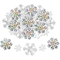 Howaf Christmas Snowflake Confetti (300pcs), Large Shimmer Snowflakes Confetti Mixed Table Decoration for Xmas Party, Winter Frozen, Wedding, Birthday, Year Holiday Party Christmas Decorations