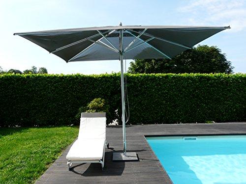 Maffei Art 168Q Pool. Quadratisch Sonnenschirm cm 300x 300, Stoff BATYLINE. Made in Italy. Farbe Taupe