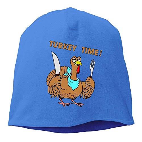 ll Caps Hats Cute Funny Turkey Thanksgiving Unisex Knit Hat Soft Stretch Beanies Skull Cap Hedging Cap Black ()