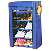 Fabric Shoe Rack, 5 Layers, Blue,6588