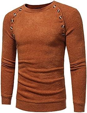 Maglia a maniche lunghe maglione Maglia uomo dimagrimento elegante e versatile maglione di copertura, per il tempo...