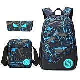 Teens Rucksack für Schule leichte Jungen Mädchen Schule Bookbag Set Travel Daypack (Graffiti)