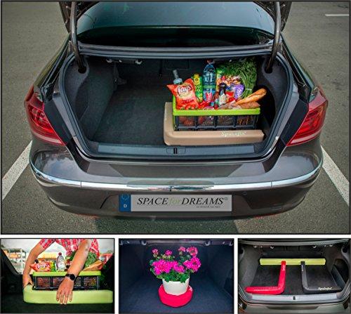 Gepäckfixierung SPACEFIX® (Beige) - Original, praktisch, Befestigungselement in den Kofferraum Ihres Autos. Große 6 x 6 x 100cm. Perfektes Geschenk für Sie und ihn! Mit starkem Klettverschluss, der auf der Teppichverkleidung im Kofferraum klebt und ihr Gepäck im Kofferraum fixiert. Nicht geeignet nur für den Kofferraum in BMW, MB, Audi, Volvo. Für eine ideale Fixierung des Gepäcks in dem Kofferraum Ihres Wagens empfehlen wir üblicherweise 2 Stk. von SPACEFIX® zu nutzen.