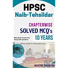 HPSC Naib-Tehsildar Chapterwise and Topicwise Solved Book: Naib-Tehsildar Chapterwise and Topicwise Solved Book is important for upcoming all HPSC/HSSC exams. (Hindi Edition)