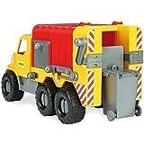 Wader Müllwagen mit abnehmbarer Tonne, wetterfest und stabil, Made in EU || 46 cm Spielzeug LKW Spielzeugauto Sandfahrzeug Strandspielzeug