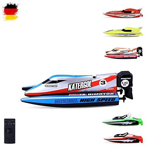 RC ferngesteuertes mini Speedboot mit integriertem Akku, Komplett-Set inkl. Fernsteuerung, RC Boot, RC Schiff, Neu, - Neues Boot