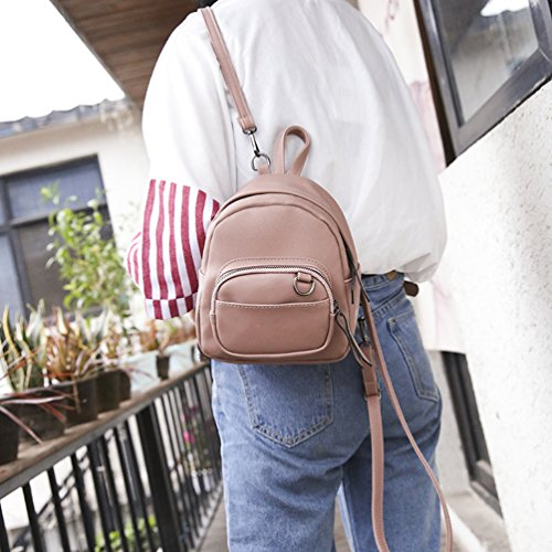 CHENGYANG Donna Superficie Opaca Zaino Confortevole Traspirante Borsa Shopping Backpack Pink