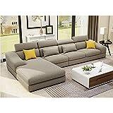 JINPENGRAN Wohnzimmer Sofa-Sofa-Fashion Fabric Sofa-Combination Set-Cafe Hotel Möbel-Simple Leisure Sofa,Natural,A