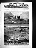 Copie antique de guerre dans le croquis 1880 de Basutos de Basutoland Afrique du Sud Maseru