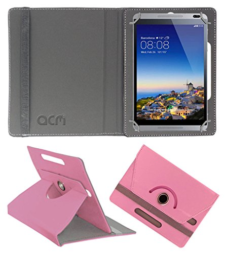 Acm Rotating 360° Leather Flip Case for Huawei Mediapad M1 Cover Stand Light Pink  available at amazon for Rs.159