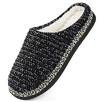 RockDove Women's Birch Sweater Knit Slipper, Size 11-12 US Women, Black