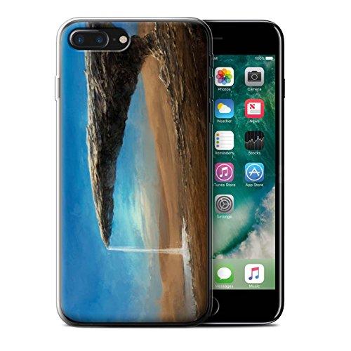 Offiziell Chris Cold Hülle / Gel TPU Case für Apple iPhone 7 Plus / Raumfahrzeug Muster / Galaktische Welt Kollektion Exoplanet