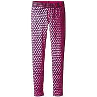 Under Armour Girls' HeatGear Armour Printed Legging, Asphalt Heather/Lead, Youth X-Large