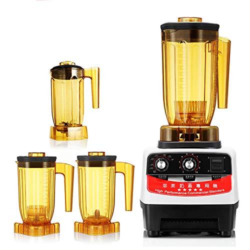 L.HPT Kommerzielle Eismaschine Entsafter Mixer Blender mit Wildside + 3*Jar (90 oz), Professional-Grade Power, Selbstreinigung, 8 vorprogrammierte Zyklen, 10-Speeds, Sleek und Slim