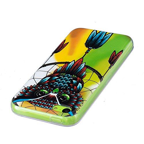 iphone 5C hülle leuchtend, LuckyW TPU Nacht Leuchtend Handyhülle für Apple iPhone 5C Soft Silikon Tasche Transparent Schale Clear Klar Hanytasche Durchsichtig Rückschale Ultra Slim Thin Dünne Schutzhü Eulen-Traumfänger
