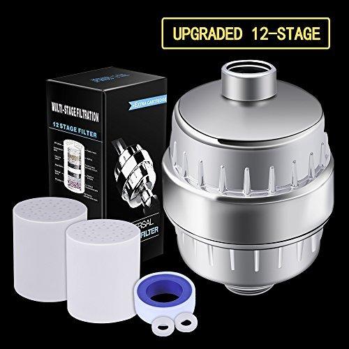 Duschfilter 12 Bühne Duschkopf Wasserfilter Hartes Wasser Löschen Chlor Wasserenthärter Wasserreiniger