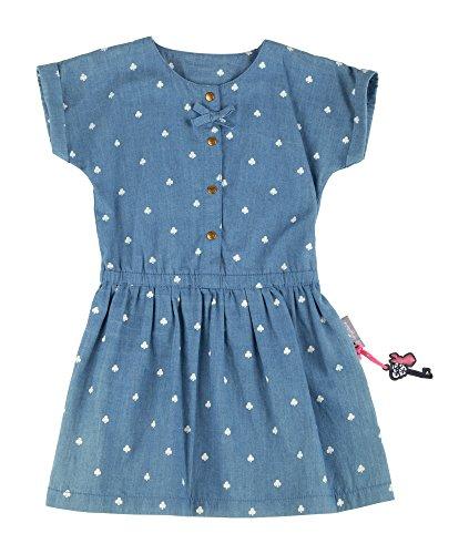 Sigikid Mädchen Jeans Kleid, Mini, Blau (Denim Light Blue 590), 104