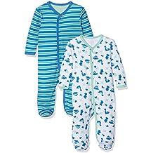 Name It 2er Pack SCHLAFANZUG Baby Jungen Nightsuit Strampler Einteiler mit Zip
