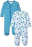 Care - Pyjama - Bébé garçon - Lot de 2, Vert (Jade Green 951), 0-3 mois (Taille...