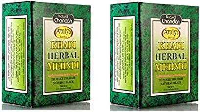 Khadi Natural Sudha Ayurveda Herbal Black Mehndi, 100g (Pack of 2)