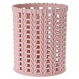 lpyfgtp Kunststoff Rattan Desktop Ablagekorb Home Office Organizer Kosmetische Tabelle Box (Rosa)