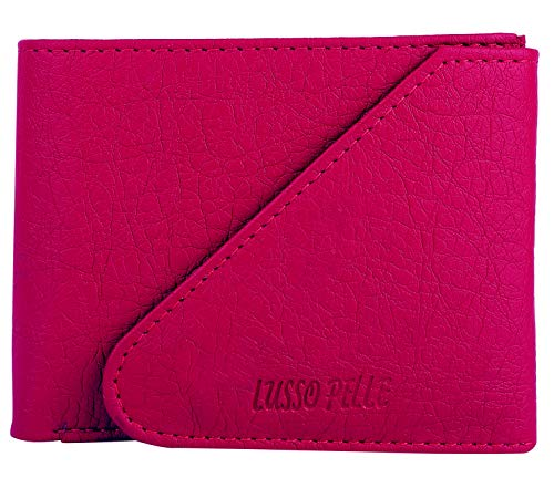 Buy Lusso Pelle Leatherette Clutch Wallet for Women (Pink) online in India at discounted price