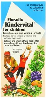 Floradix Kindervital Original Formula Childrens Liquid Multivitamin 500ml from Salus