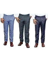 IndiWeaves Combo Offer Mens Formal Trouser (Pack Of 3) - B01JRQPSFY