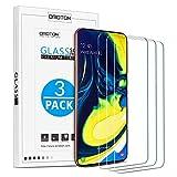 OMOTON [Lot de 3 Samsung Galaxy A80 / A90 Verre Trempé Protection Ecran en Verre pour Samsung Galaxy A80 / A90 [Clarté Cristale] Film de Protection [sans Bulle] [9H Dureté]