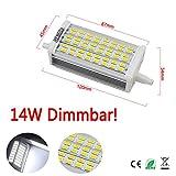 Hengda 14W Dimmbar SMD R7s LED Leuchtmittel 118 Stab Fluter Brenner Lampe (1, Weiß)