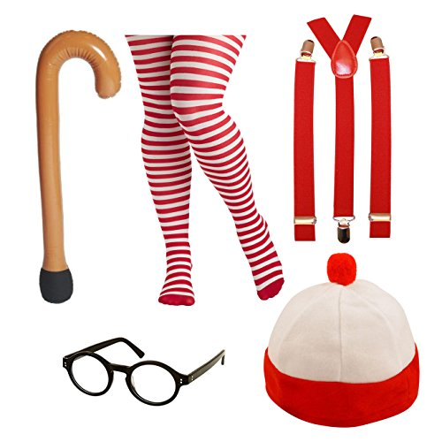 Assorted Adults / Teenager Fancy Dress Costumes (Female Nerd Wally) (Umpa Lumpa Kostüm)