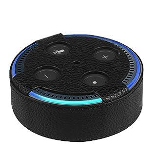 Fintie Amazon Echo Dot Hülle (nur für Echo Dot 2. Generation geeignet), Premium Kunstleder Schutzhülle Case Cover Tasche für Amazon All-New Echo Dot (2nd Generation), Schwarz