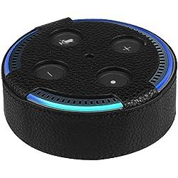 Fintie Amazon Echo Dot (2a generazione) Case - Protettiva Custodia Cover in pelle PU Per Amazon Echo Dot (2a generazione), Nero