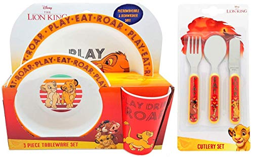 Lunch Bag Land Disney The Lion King 6 Piece Dinner And Cutlery Set