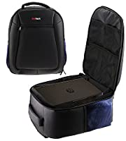 Navitech Rugged Black Carry Backpack/Rucksack/Case For TheCrenova XPE600 BL20 2600 Lumens Video Projector Home Cinema Theater