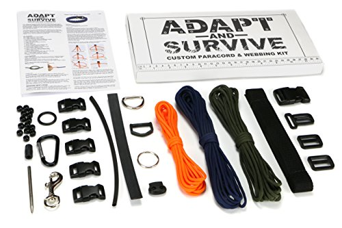 51z6g9360gL - Polymath Products Adapt and Survive - Paracord & Webbing Kit - 38-Piece Set including 50' Paracord for DIY Bracelets and…
