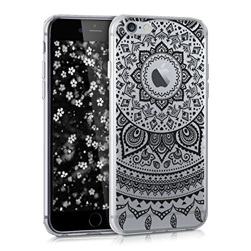 kwmobile Apple iPhone 6 / 6S Hülle - Handyhülle für Apple iPhone 6 / 6S - Handy Case in Schwarz Transparent