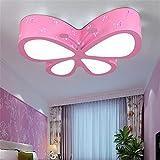 Malovecf Kinderzimmer Deckenleuchte Schlafzimmer Lampe LED kreative Schmetterling Beleuchtung Kindergarten Mädchen Prinzessin Raum Beleuchtung, 50 * 40 * 10CM, 24W, Weißes Licht