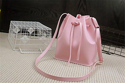 Remeehi giovani donne una spalla mano borsa a tracolla piccola borsa secchiello, Yellow (Grigio) - JXQ0696-4 Pink